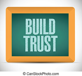 build trust sign message illustration design