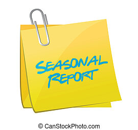 seasonal report post illustration design