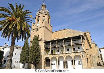 Historical Church in Ronda - The Church of Santa Maria...