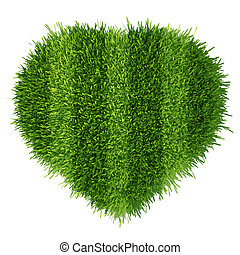 football pitch in the form of heart. love to play football