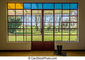 Countryside House Window. Argentina, South America.