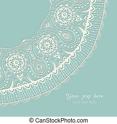 Decorative Vintage Design Element, illustration with lacy...