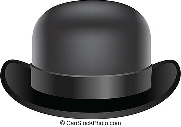 Bowler hat - Vintage and black bowler hat for your designs