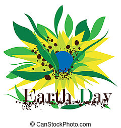 Illustration of Earth Day on a white background