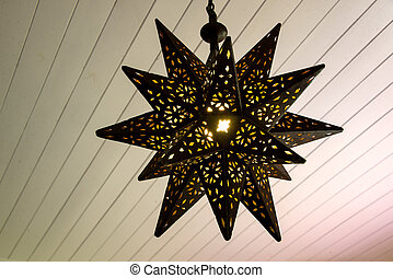 Rusty star shaped lamp - Beautiful decoration lamp at a...