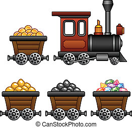 Train with mine tubs - Vintage train and mine tubs. Check my...