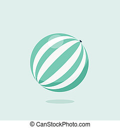 Bright inflatable ball