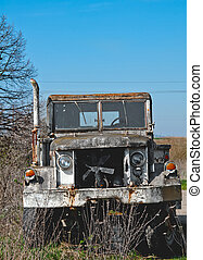 military truck - a military truck is neglected in field