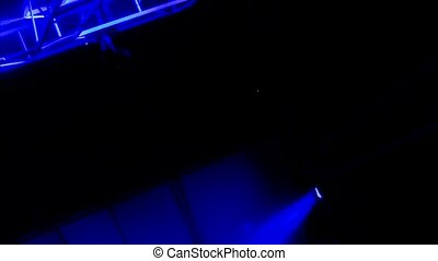 concert lights - concert blue reflector lights