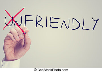 Changing the word Unfriendly into Friendly - Unfriendly -...