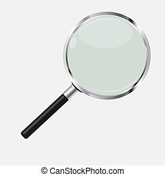 Magnifying Glass Search Icon Vector Illustration
