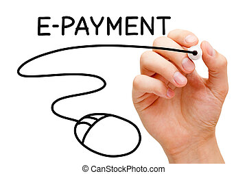 E-payment Mouse Concept - Hand sketching E-payment Mouse...