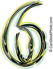 Font illustration NUMBER 6