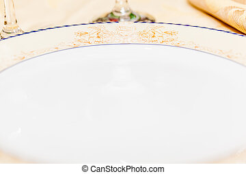 Ornated plate - an ornated and luxurious plate in a...