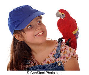 Friends - An elementary girl happily looking at the MacCaw...
