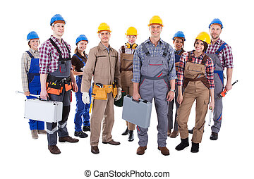 Large group of diverse workers - Large group of diverse...