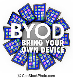 BYOD Bring Your Own Device Tablets Computers Mobile Work