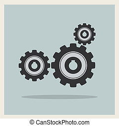 Technology mechanical gear icon vector - Technology...