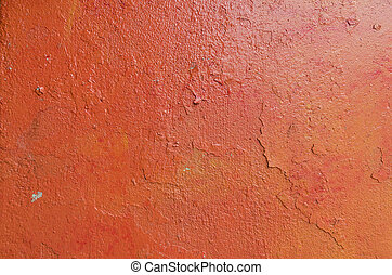 Background of old orange painted wall