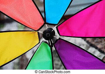 Pinwheel - Detail of a colourful pinwheel