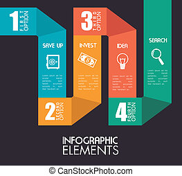 Infographic design over gray backgroud, vector illustration
