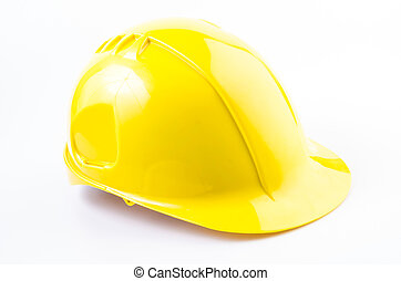Hard hat , safety helmet on isolated white background