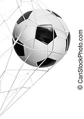 Soccer ball goal isolated