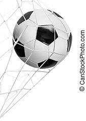 futbol, meta, Pelota, aislado