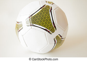isolated object. - Football and volleyball on a white...