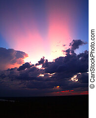 different colorful sky clouds set