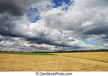 Bavarian clouds - Landscape in Bavaria, cloudscape and...