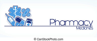 pharmacy sign vector - illustration of pharmacy sign design...