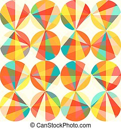 Vector geometric pattern of circles and triangles. Colored...