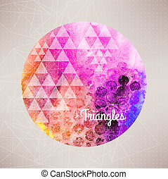 Vector watercolor planet background,round...