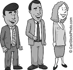 Professional Workers - A set of three professional cartoon...