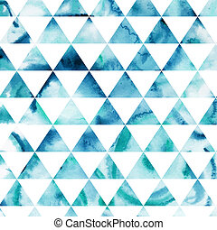 Vector watercolor triangles pattern. Modern hipster pattern....