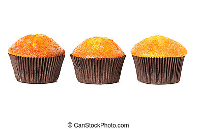 muffins, cupcakes isolated