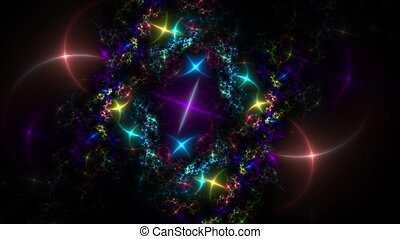 colorful sparkling lights - Colorful stars, sparkling...