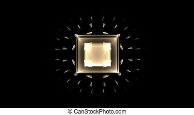 golden cubical perspective - perspective view of golden...
