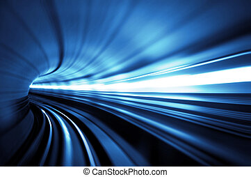 Tunnel - Train moving in Tunnel -Abstract View