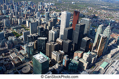 Toronto cityscape - Panorama of downtown high rise buildings...