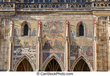 st. vitus cathedral in prague czech republic - architecture...