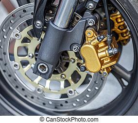motorcycle wheel brake background in motorbike, motorcycle...