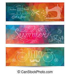 Grunge vector banner. Abstract header vector background....