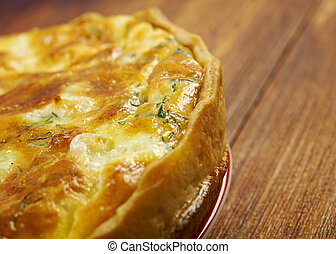 quiche with fish - tasty homemade quiche with...