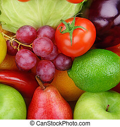 background  of vegetables and fruits