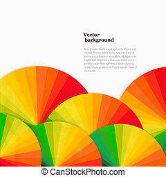 Abstract background with spectrum wheels. Bright rainbow...