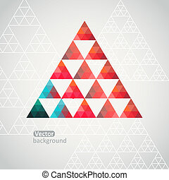 Triangle pattern background, triangle background, vector...