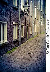 Retro Backstreet - Retro Style Backstreet Or Alleyway In A...