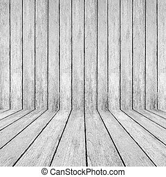 White wood perspective background for room interior